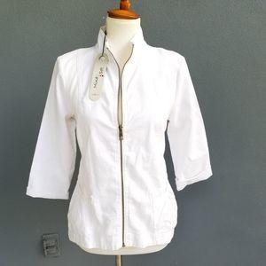 Mind Set XCVI Linen White Lagenlook  Jacket Med